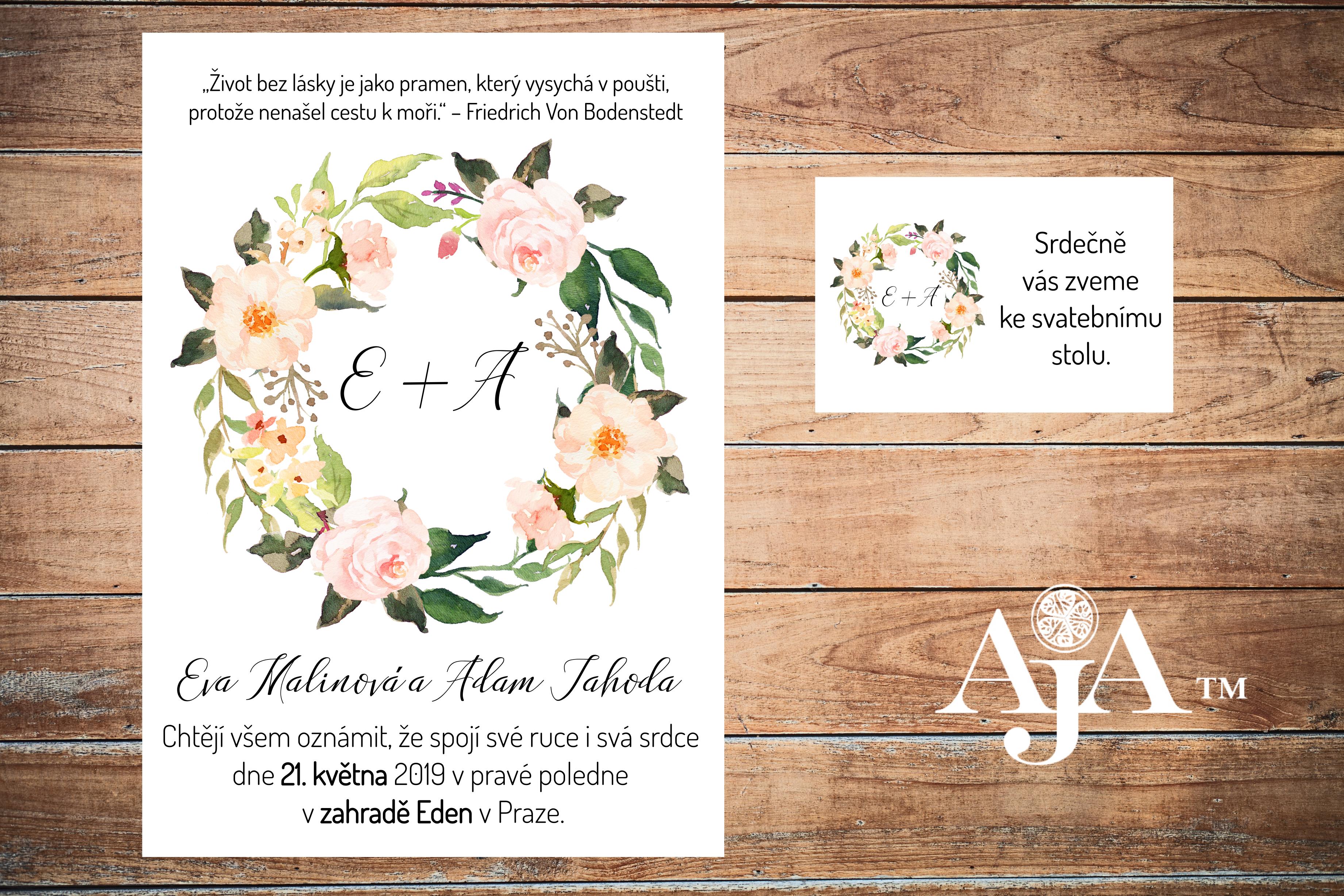svatební oznámení Eden 2- náhled