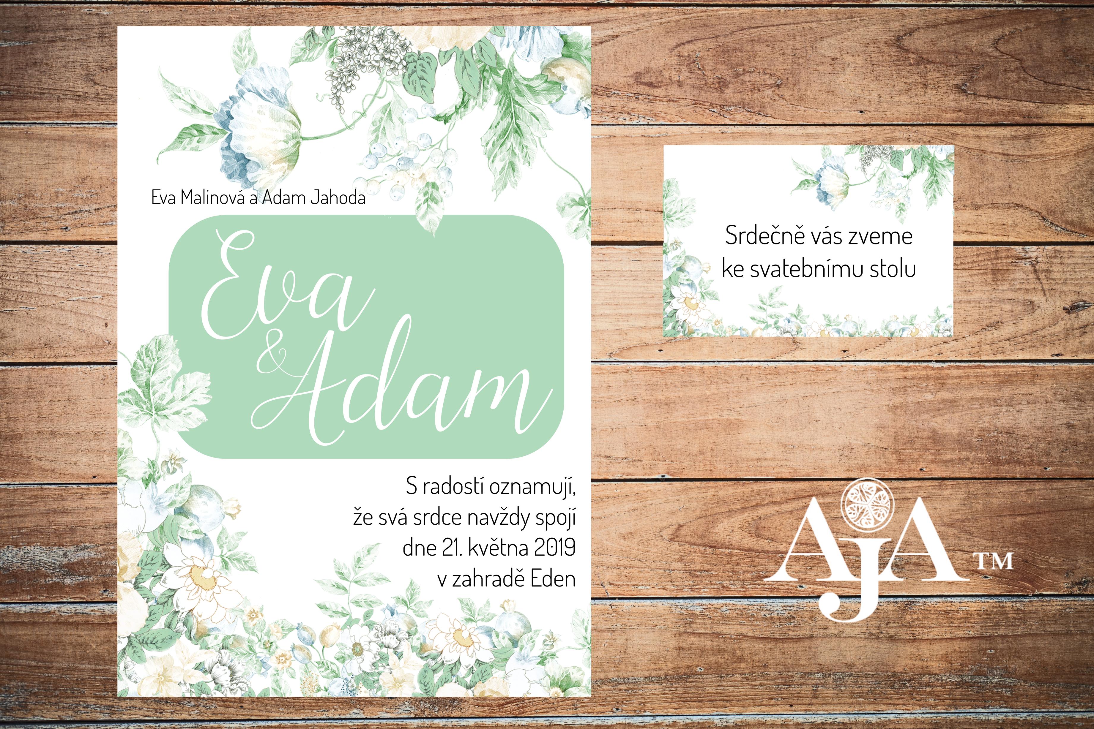 svatební oznámení Eden 1- náhled